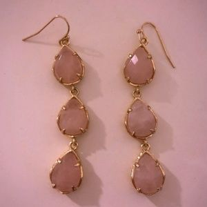 Gorgeous Rose Quartz Kyla Kendra Scott Earrings